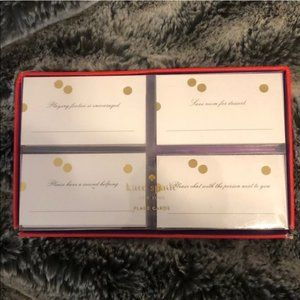 kate spade gold dot place cards new in box